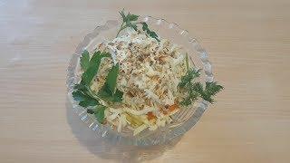 Вкусный салат с морковью яблоком и сыром