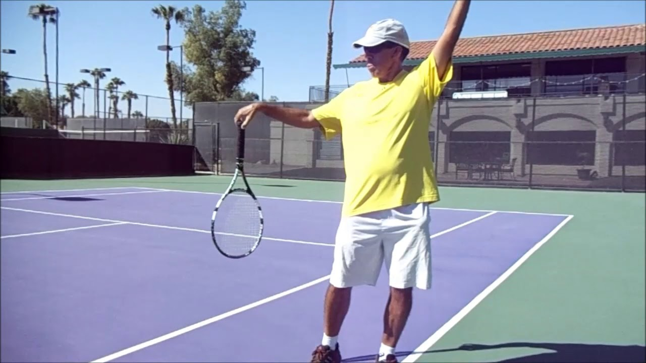 Natural Serve!  loose and relax swing path *follow your racket* by Vegan  Tennis