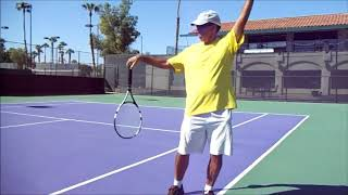 Natural Serve!..loose and relax swing path *follow your racket* by Vegan Tennis