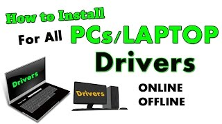 How to Install Drivers for All PC/LAPTOP |Dell Drivers|Hp Drivers & More