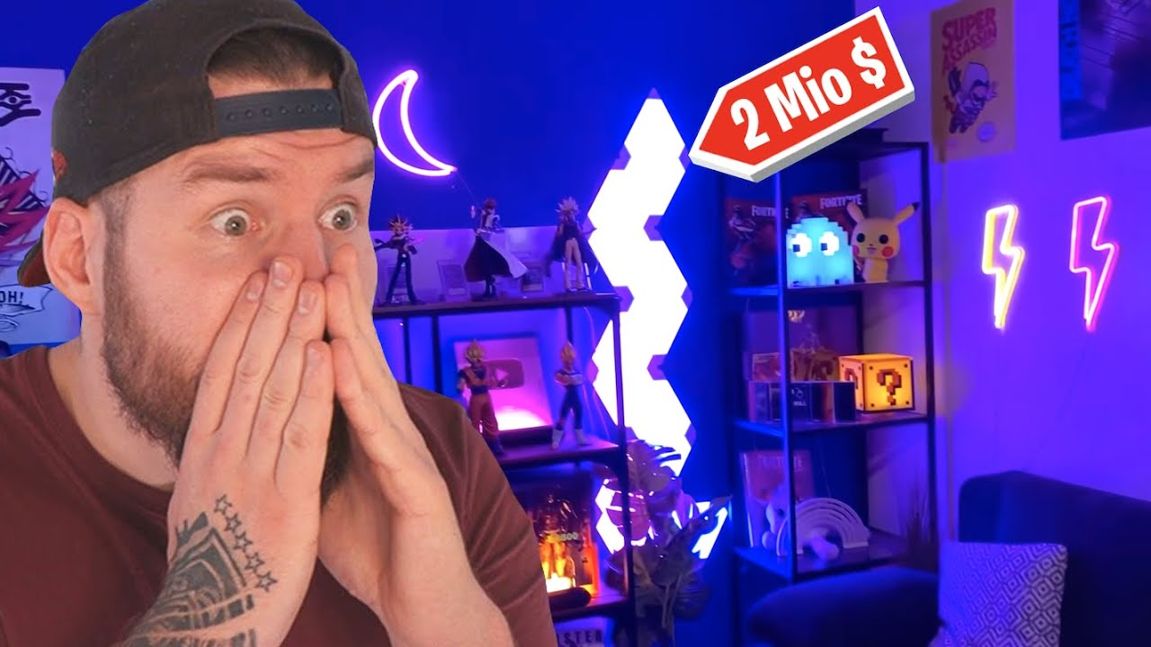 DAS KRASSESTE GAMING ZIMMER EVER! 😱 | Reaction