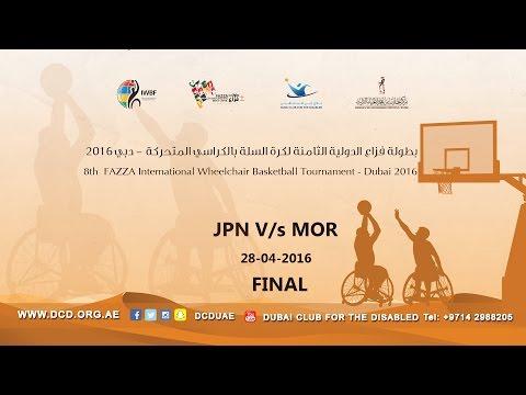 JAPAN v/s MOROCCO - FINAL (8th Fazza International Wheelchair basketball Tournament-Dubai 2016)