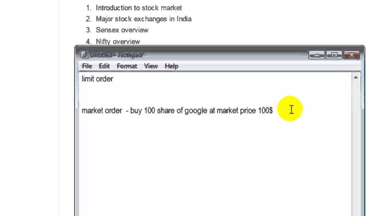 Difference Between Limit Order And Market Order