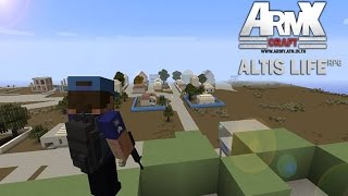 Rivth28 - Minecraft เซิฟ Army #1 :แนว Atlis Life ปืนชุด 3D ระบบติดคุก ตำรวจ ปล้นธนาคาร เยอะแยะ [MOD]