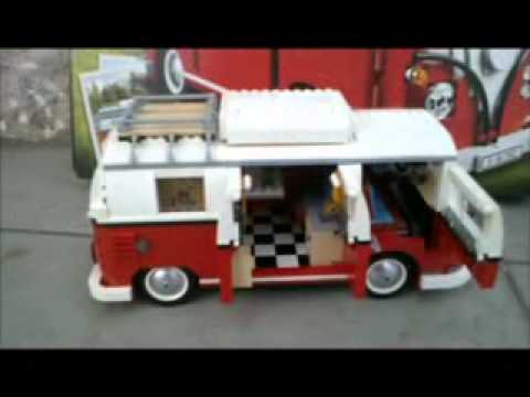 lego exclusive 10220 volkswagen t1 camper van youtube. Black Bedroom Furniture Sets. Home Design Ideas