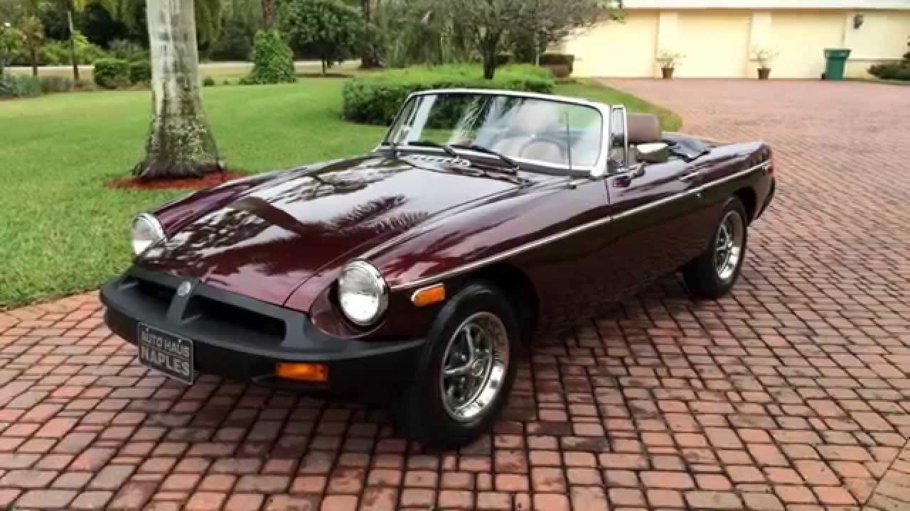 1980 mg mgb roadster for sale by auto haus of naples youtube. Black Bedroom Furniture Sets. Home Design Ideas