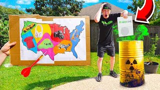 Download THROWING A DART AT A MAP & DESTROYING IT WITH ACID! *TOXIC* Mp3 and Videos