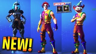 *NEW* VALKYRIE & CLOWN SKINS Showcase IN-GAME! (Fortnite Battle Royale 5.41)