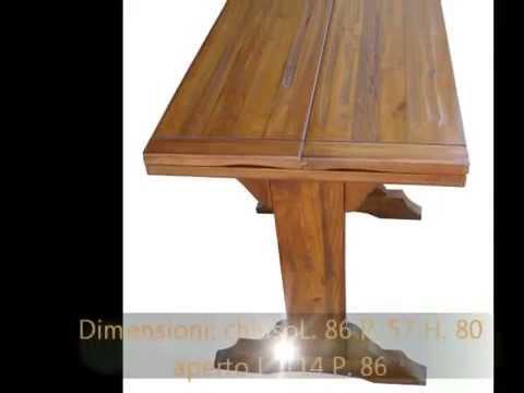 Riproduzioni antiquariato tavoli fratini in olmo antico for Tavolo apribile