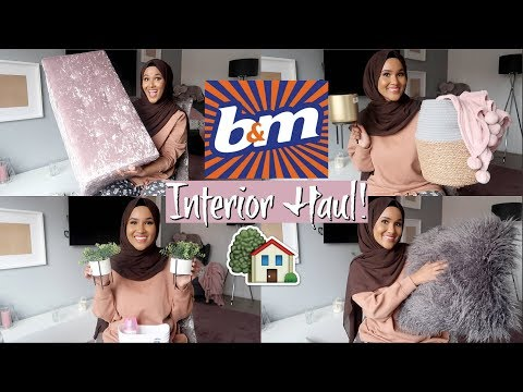 THE BIGGEST B&M HOMEWEAR HAUL 2019 // BLUSH PINK & GREY INTERIOR