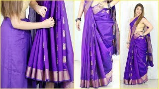 इन TRICKS के साथ पहने Perfect Pleats वाली Cotton साड़ी - How To Wear Saree Perfectly | Anaysa