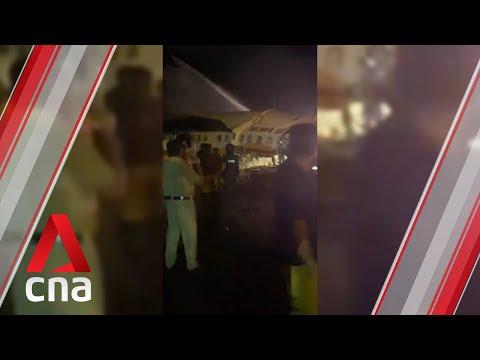 Videos impactantes: al menos 14 personas mueren al despistarse un avión de Air India