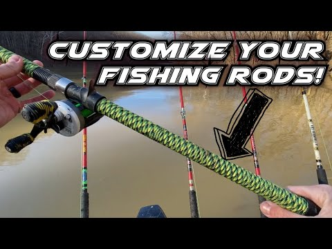 How To Paracord Wrap A Fishing Rod Handle. Simple.