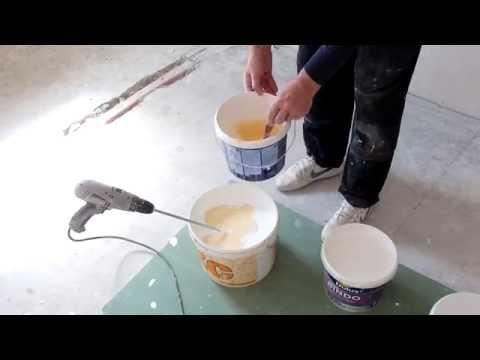 видео: Покраска  потолка