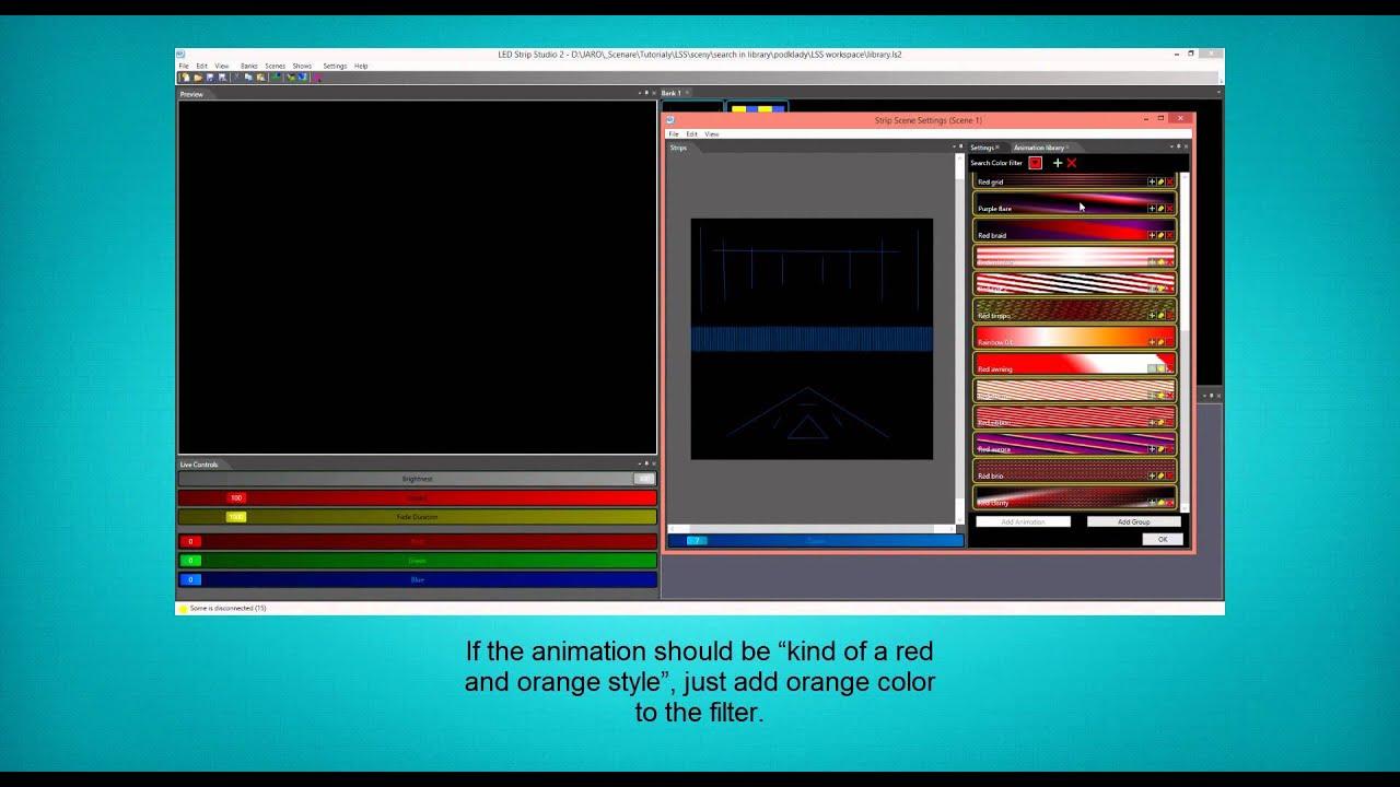 TUTORIALS - LED Strip Studio Software
