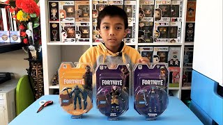 Unboxing Fortnite Figur Pack Solo Mode - Teknique, Drift & Carbide