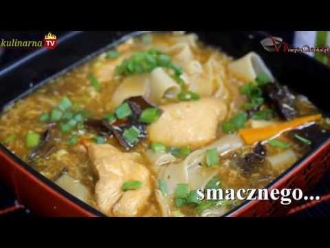Przepis Na: Chińska Zupa Z Kurczakiem, Grzybami I Makaronem Ryżowym