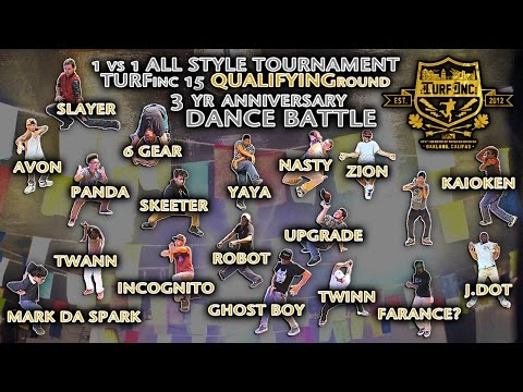 TURFinc 15 1v1 All Style Tournament Dance Battle Showcase | 5 De Mayo Dance Battle
