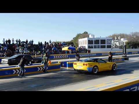 Corvette vs Nova Procharger vs Turbo Drag Wars Pegaso 22/01/17