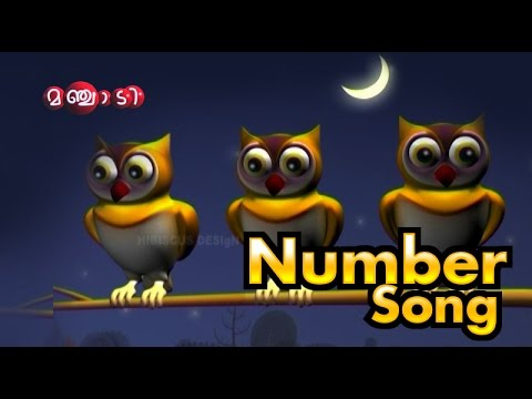 Malayalam Number song Manchadi manjadi  malayalam cartoon  animation  Kids