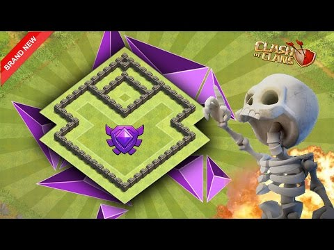 Town Hall - 4 { Th-4 }Best {Hybrid / Trophy} Base {2017} | Clash of Clans
