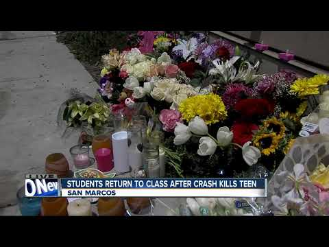 Students return to class after crash kills teen near Mission Hills High School in San Marcos