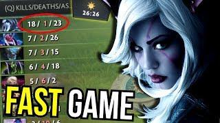 DROW vs DIRE - Drow Ranger 1 vs 5 Fast Game by Draskyl 7.11   Dota 2