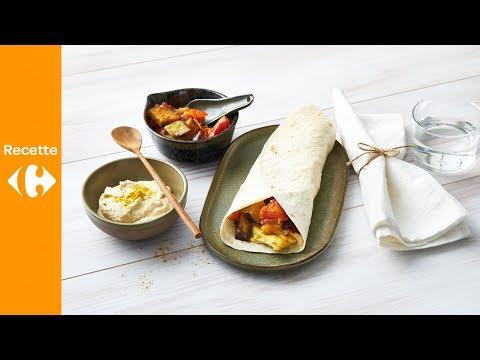 wrap-au-hoummous,-poulet-et-aubergine