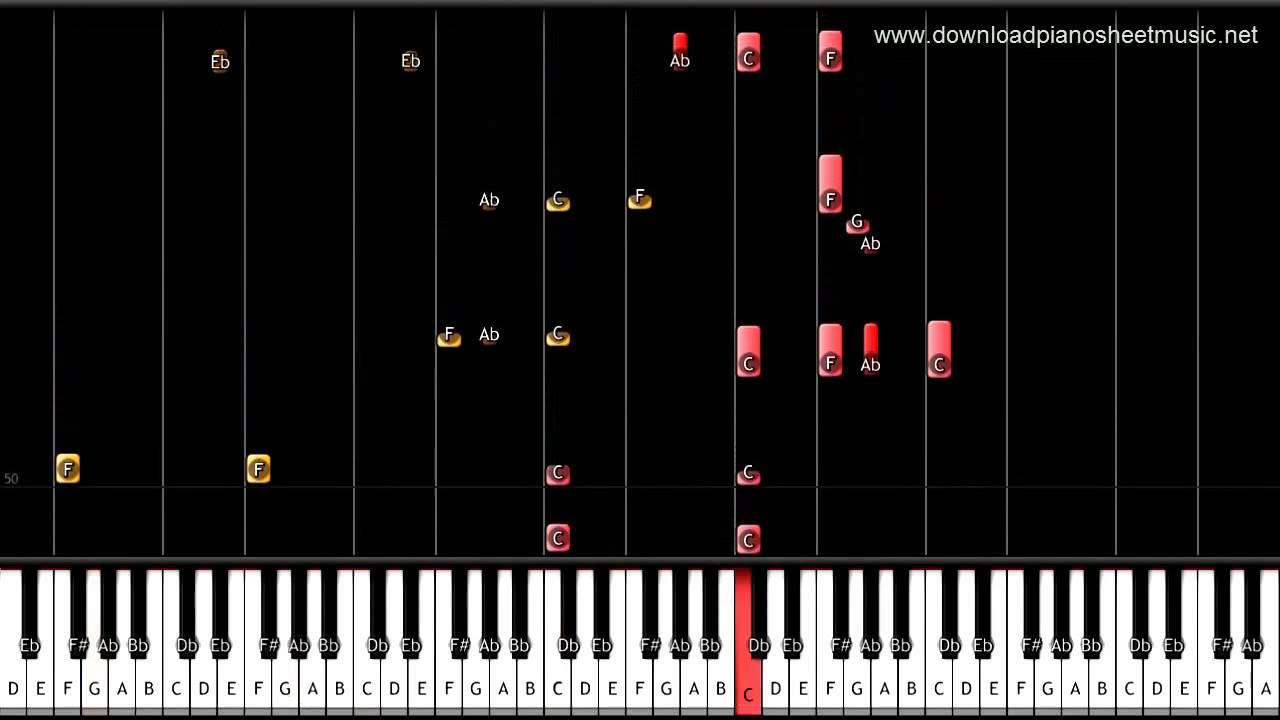 скачать ноты скайфолл для фортепиано