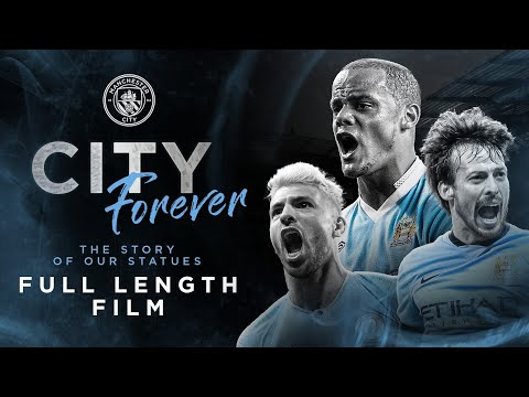 FULL MOVIE    Sergio Agüero, David Silva and Vincent Kompany    City Forever: The history of our statues