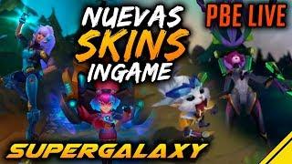 NUEVAS SKINS SUPERGALAXY Gnar, Nidalee, Annie y Elise PBE | Noticias League Of Legends LOL