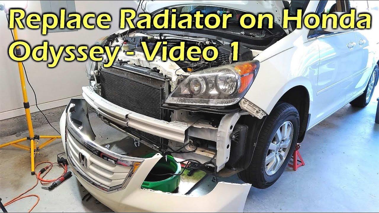Replace Radiator on Honda Odyssey - VIDEO 1 Remove Radiator - YouTube