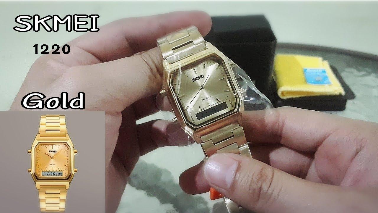รีวิว SKMEI 1220 Gold Digital Analog นาฬิกาแฟชั่นแบรนด์เอเชียราคาเบา
