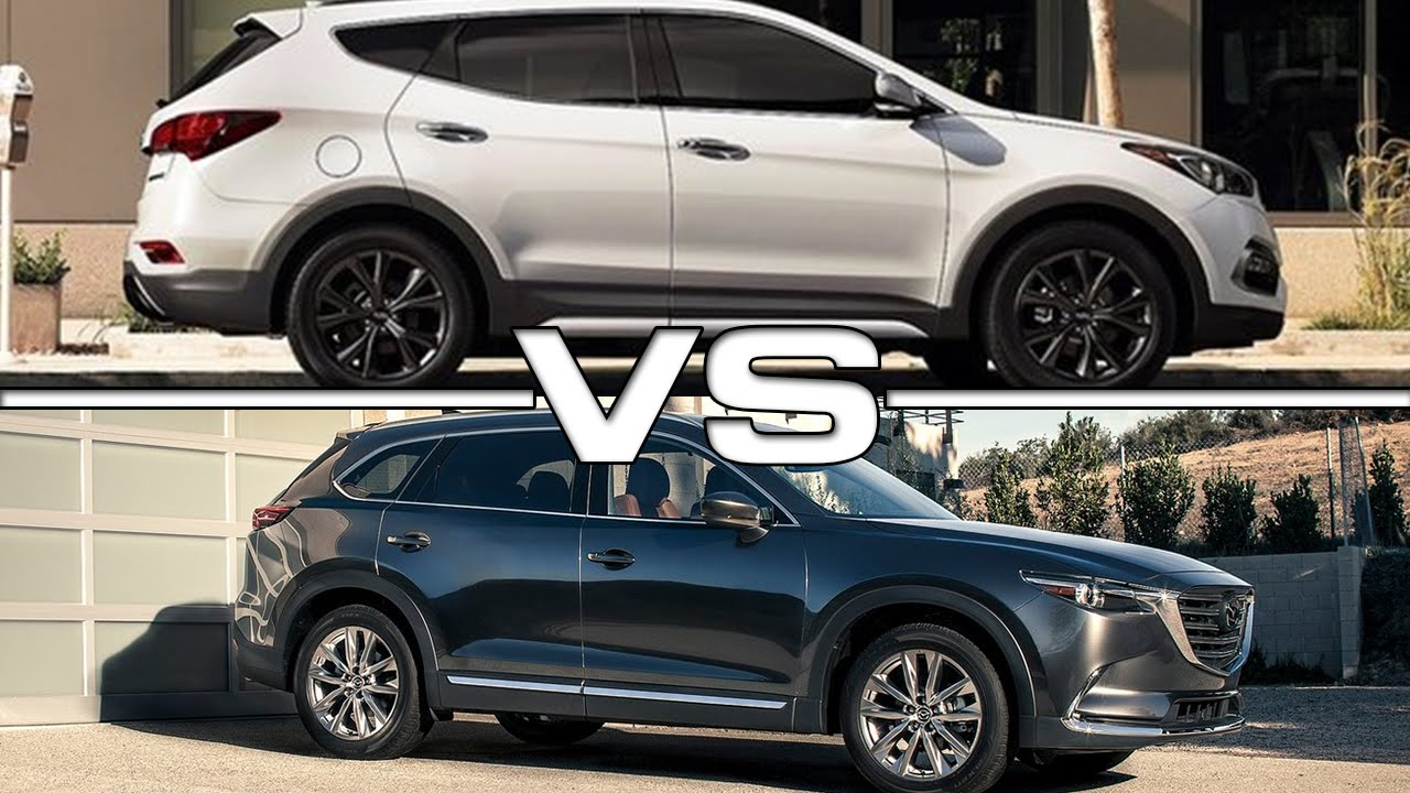 2017 hyundai santa fe vs 2017 mazda cx-9 - youtube