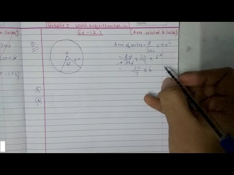 Chapter 12 Exercise 12.2 (Q1 Q2) Areal Related To Circles || Maths class 10 NCERT