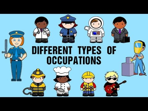 different types of occupations learning about jobs and