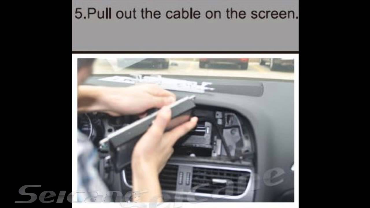 How to upgrade remove 2008-2013 Audi A4 A5 stereo head unit