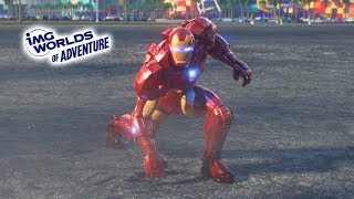 Funny Dima like Ironman vs Ultron Sentry in the IMG Worlds of Adventure