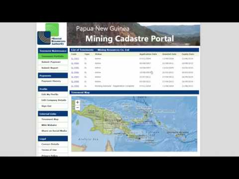 Signing In to Use the PNG Mining Cadastre Portal