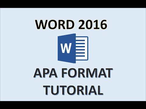 Word 2016 - APA Format - How To Do an APA Style Paper in 2017 -APA Tutorial Set Up on Microsoft Word