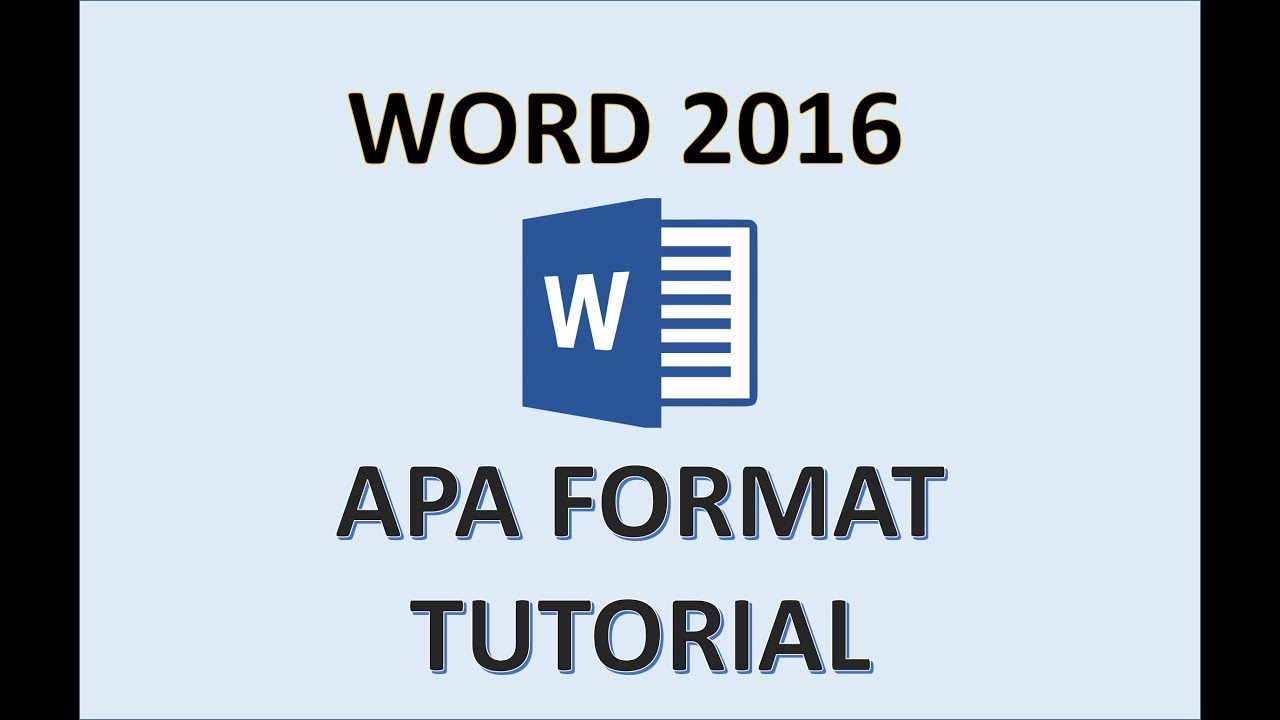 ms word apa format