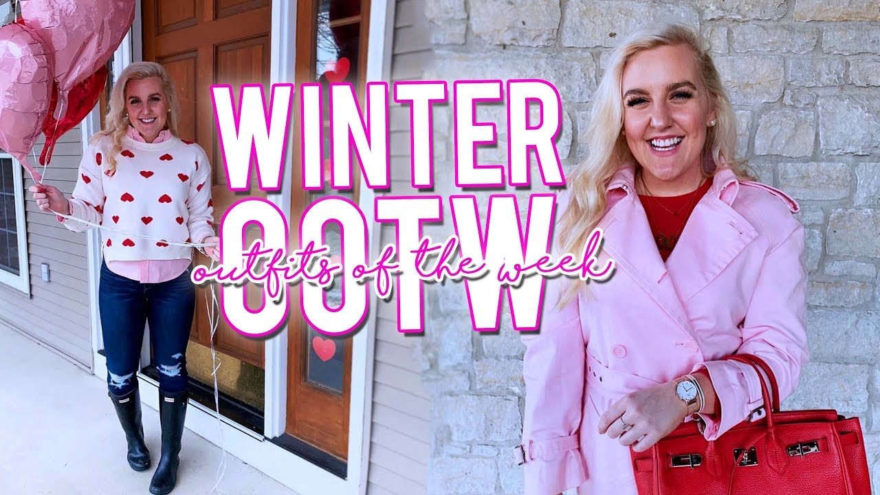 PREPPY WINTER OUTFITS OF THE WEEK (February 2019 OOTW #45DAYSOFPINK) ||Kellyprepster
