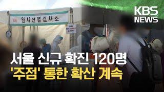 서울 신규 확진 120명…다중이용시설 통한 확산 이어져…