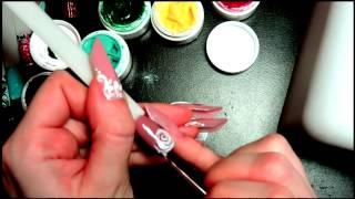 Лепка розы текстурным (3D) гелем | 3D rose. Texture gel. Nail design.
