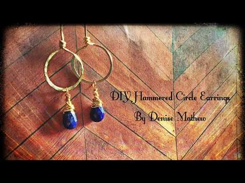 How to Make DIY Hammered Circle Earrings By Denise Mathew