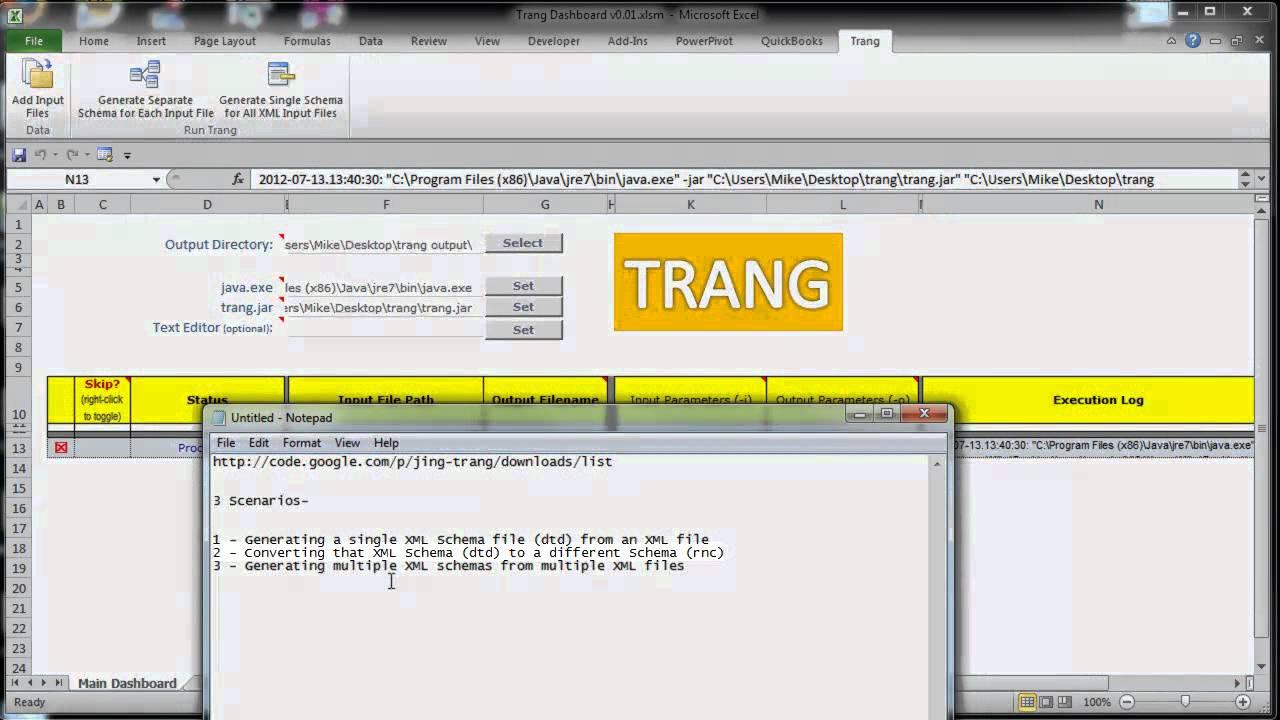 Trang XML GUI