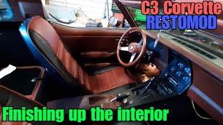 C3 Corvette Restomod Finally finishing up the interior