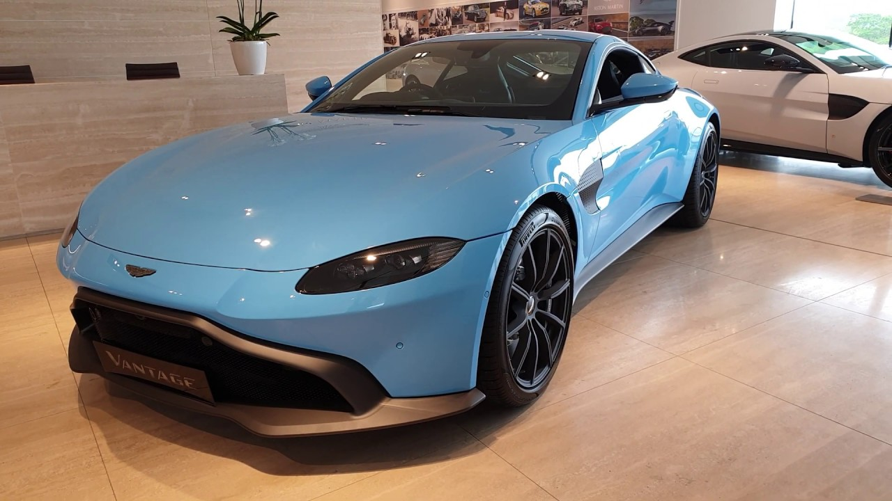 2019 Aston Martin Vantage In Light Blue Interior And Exterior Video View Youtube