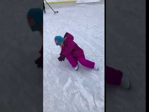 Sydney's First Time Ice Skating