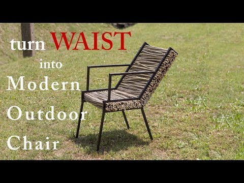 Turn WASTE into Modern Outdoor Chair DIY ; Amorpha furniture